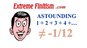 infinity number response to numberphile u0027s astounding 1 2 3 4 u003d minus 1 12 sum