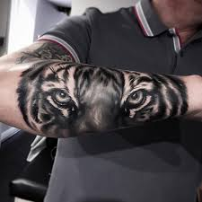 tiger on s forearm best design ideas