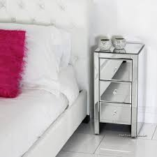 bedroom dark wood and mirrored nightstand small skinny with