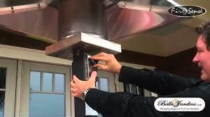 Fire Sense Hammer Tone Bronze Commercial Patio Heater by Square Mocha Commercial Patio Heater 12260950 Youtube