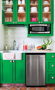 Kitchen Cabinets Green 55 Best Colorful Cabinets Images On Pinterest Kitchen Home And