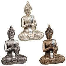 sitting mirror buddha ornament home decor b m
