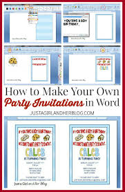 Invitation Card Application How To Make Your Own Party Invitations Just A And Her Blog