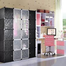 KAPAS Multi Use DIY Plastic Wardrobe Storage Organiser  Cube - Fashion bedroom furniture