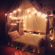 Bedroom Light Decorations Amazing Canopies With String Lights Ideas