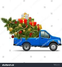 vector christmas pickup stock vector 228732835 shutterstock