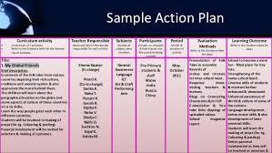 example of a teacher action plan