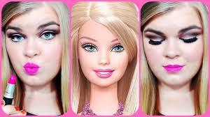 halloween series 2014 barbie inspired makeup look youtube