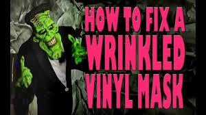 bane mask spirit halloween how to fix a wrinkled vinyl mask instructions youtube