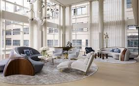vladimir kagan created furniture including the sofas for this