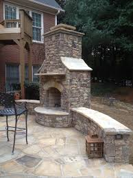 custom outdoor fireplace and
