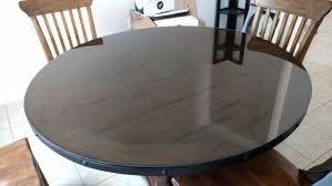 Door Dining Room Table Installed 2 Custom Glass Shower Doors U0026 Round Table Top