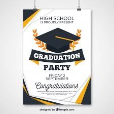 graduation poster abstract graduation party poster vector free