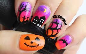 halloween nails spooky sunset youtube