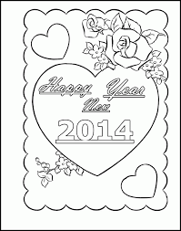 happy new year coloring sheets coloring home