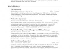 Machinist Resume Examples by Cheerful Professional Resume Samples 16 Word Format Resume Example