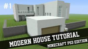 Modern Houses Minecraft Modern House Tutorial Minecraft Ps3 1 Youtube