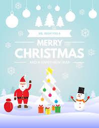 merry christmas postcard background vector illustration eps 10