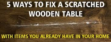 how to fix a scratched wood table removeandreplace com