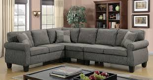 Gray Fabric Sectional Sofa Gray Fabric Sectional Sofa By Furniture Of America