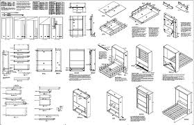 murphy bed desk plans full wall bed desk combo plans