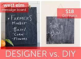 Diy Hack Designer Vs Diy West Elm Message Board Diy Hack For 18