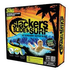 amazon com slackers slide and surf screamin u0027 30 u0027 water slide toy