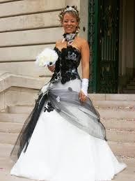 robe de mari e gothique robe de mariee gothique noir et blanc color dress