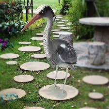 large plastic resin decoy heron garden ornament bird scarer fish