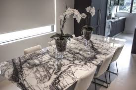 Large  Seater Marble Dining Table Sydney Design World - Black dining table for 8
