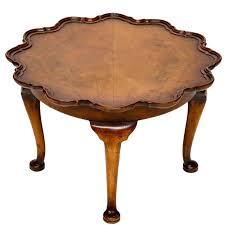 pie crust end table english walnut petite pie crust table at 1stdibs