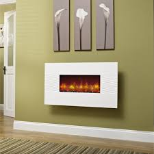 essential fireplaces deluxe 36 inch wall mounted electric fire gloss white