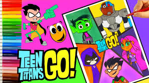 teen titans go color pages starfire and robin beast boy teen titans go coloring pages crayola
