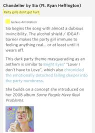 Lyrics To Chandelier Chandelier Lyrics Meaning 28 Images I M Gonna Swing From The