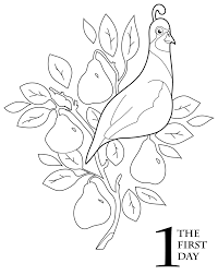 the 12 days of christmas coloring book pear trees coloring