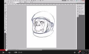 create a space chimp illustration tutorial designbump