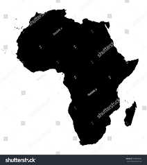 Continent Of Africa Map by Map Africa Black Silhouette Continent On Stock Illustration