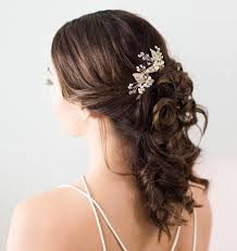 flower hair accessories bridal hair accessories gold leaves bridal headpiece gold flower