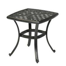 great black metal outdoor side table tables patio furniture