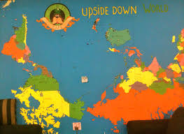 New Zealand On World Map Upside Down World Up North