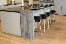 jackson pine laminate is the star of this creative kitchen the