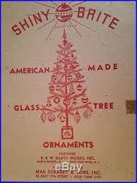 box 12 vintage shiny brite bumpy glass ornaments