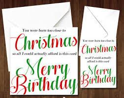 Merry Birthday Card Blunt Birthday Card Etsy