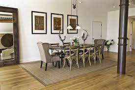 rug in dining room rug under dining table home design