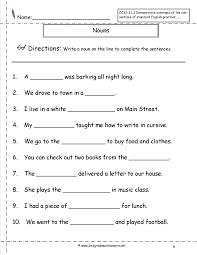 noun worksheets 2nd grade worksheets