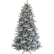 puleo 7 ft jingle bell artificial flocked tree trees