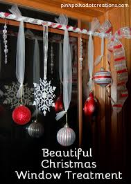 Christmas Window Decorations Ideas by Christmas Window Treatments Pink Polka Dot Creations
