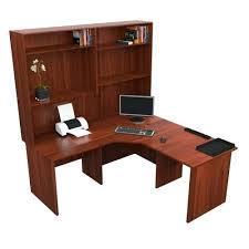 Desktop Hutch Corner Workstation Office Desk With Hutch Dark Cherry