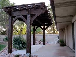 Lattice Pergola Roof by Backyard Deck Pergola Lattice Full Wrap Cantilever Roof Western