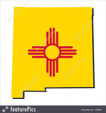 New Mexico Maps Flags New Mexico Map Flag Stock Illustration I2256007 At